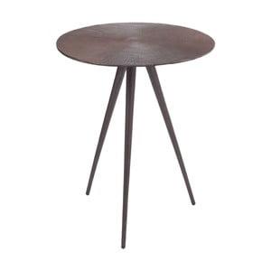 Svetlý kovový odkladací stolík Alu