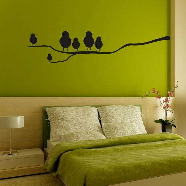 Samolepka na stenu Vtáky na vetve, ľavá strana