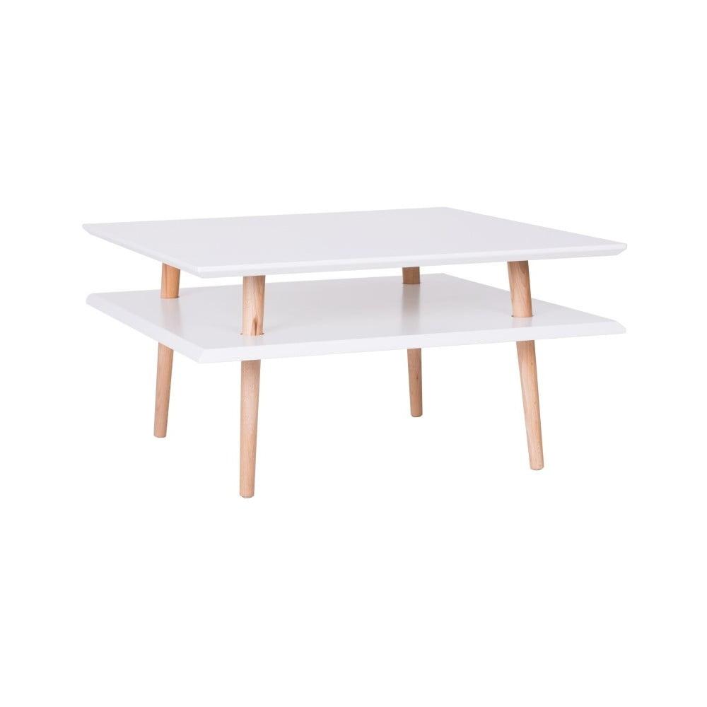Biely konferenčný stolík Ragaba Square, 68 × 68 cm