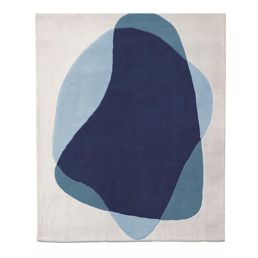 Modro-sivý koberec z čistej vlny HARTÔ Serge, 180 × 220 cm