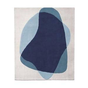 Modro-sivý koberec z čistej vlny HARTÔ Serge, 180×220 cm