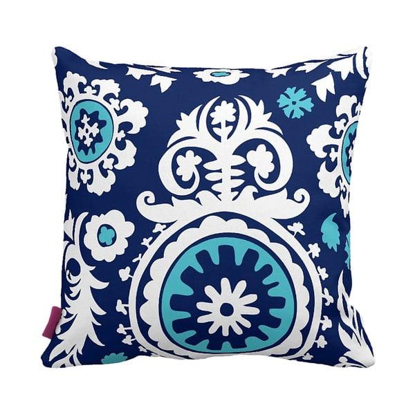 Vankúš Floral Blue, 43x43 cm