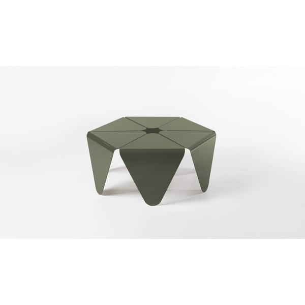 Kávový stolík Loto, tmavo sivý