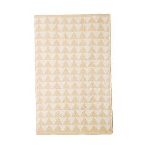 Béžový bavlnený ručne tkaný koberec Pipsa Triangle, 140×200 cm
