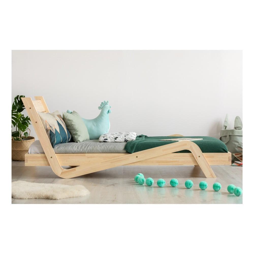 Detská posteľ z borovicového dreva Adeko Zigzag, 90 × 200 cm