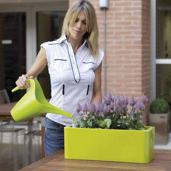 Plastový kvetináč Calypso Plus, zelený