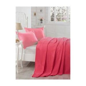 Červená ľahká prikrývka cez posteľ  Boya, 200 x 235 cm