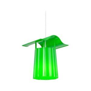Zelený závesný vonkajší lampáš Luciana