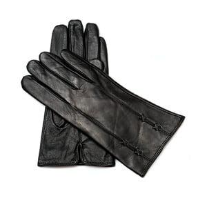 Dámske čierne kožené rukavice Pride & Dignity Dublin, veľ. 8,5