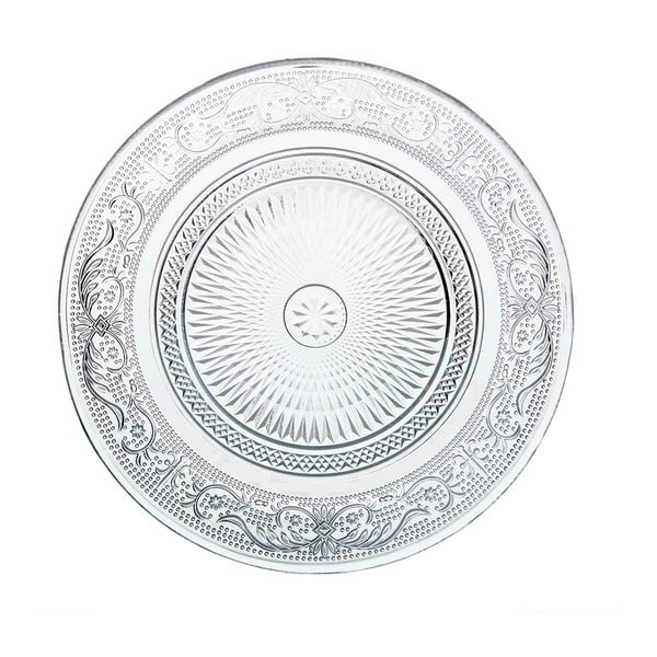 Sklenený tanier Unimasa Romance, Ø 18 cm