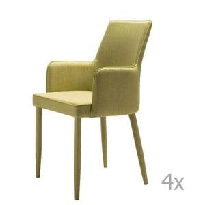 Sada 4 zelených jedálenských stoličiek 13Casa Karl