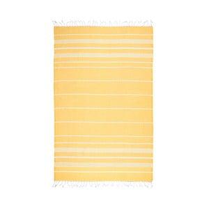 Žltá hammam osuška Kate Louise Classic, 180x100cm