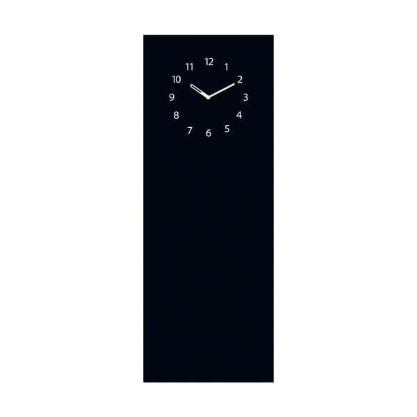 Magnetická tabuľa s hodinami Eurographics Black Clock, 30 x 80 cm