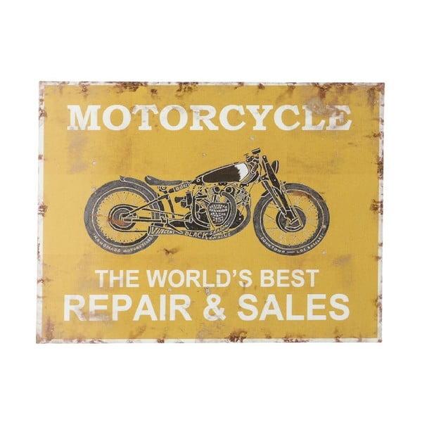 Ceduľa na stenu Novita Yellow Motorcycle
