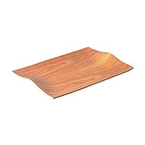 Protišmykový drevený servírovací podnos Kinto Willow, 44x31 cm