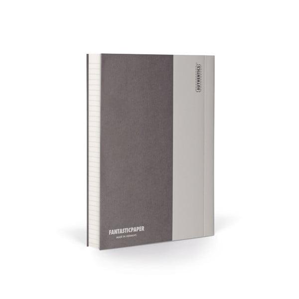 Zápisník FANTASTICPAPER A6 Stone/Warm Grey, riadkovaný