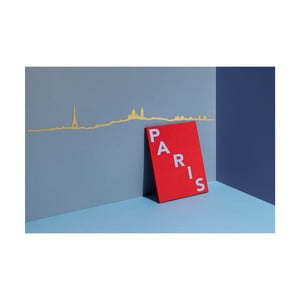 Pozlátená nástenná dekorácia so siluetou mesta The Line Paris