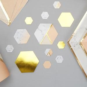 Sada 100 stolových dekorácií Neviti Gold Colour Block Marble