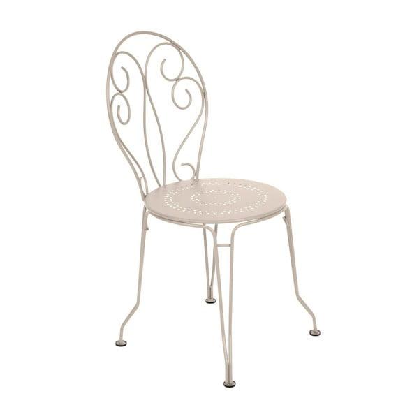 Krémová kovová stolička Fermob Montmartre