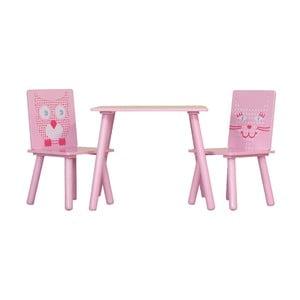 Detský stôl a 2 stoličky Owl & Pussycat