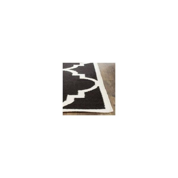 Čierny vlnený koberec Safavieh Alameda, 152 x 243 cm