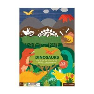 Skladacia doska so samolepkami Petit collage Dinosaurus