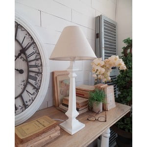 Stolná lampa Antique White, 27x58 cm