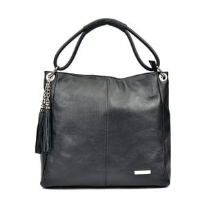 Čierna kožená kabelka Anna Luchini Janet