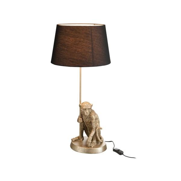 Stolová lampa Monkey, čierne tienidlo