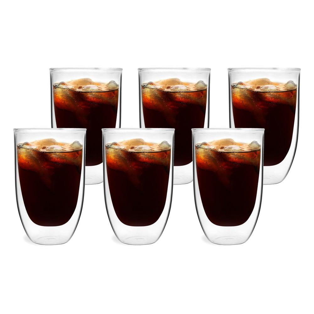 Sada 6 dvojstenných pohárov Vialli Design NATALIE, 350 ml Až vám studený dážď alebo dokonca sneh vlezie pod kožu, spomeňte si, že na vás na stole čaká pohár teplého nápoja.  Dvojitá vrstva skla slúži ako izolačná vrstva, a tak aj keď ste si urobili nápoj už pred nejakou tou dobou, bude stále príjemne teplý.