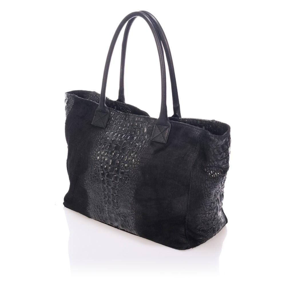 23d476f204 Čierna kožená kabelka Lisa Minardi Fausta ...