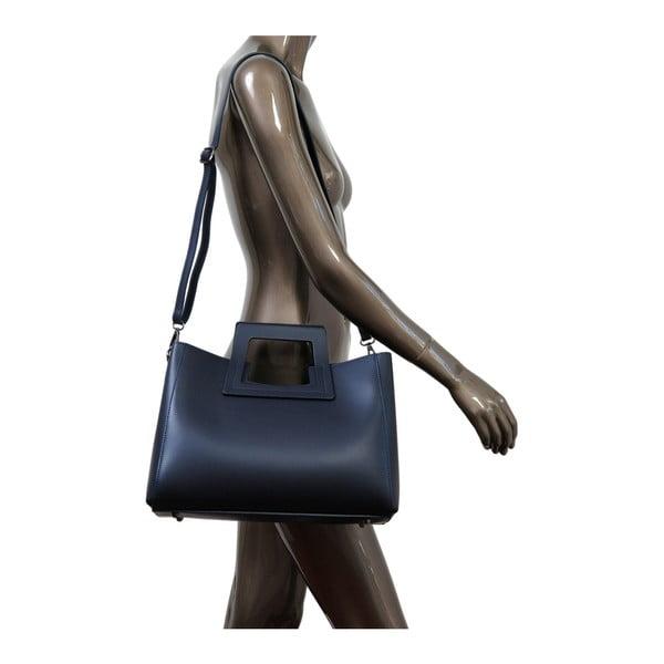 Tmavomodrá kabelka z pravej kože Andrea Cardone Pietro