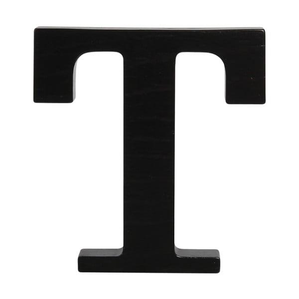 Čierne drevené písmeno Typoland T