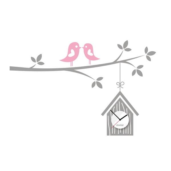 Hodiny so samolepkou Birdhouse