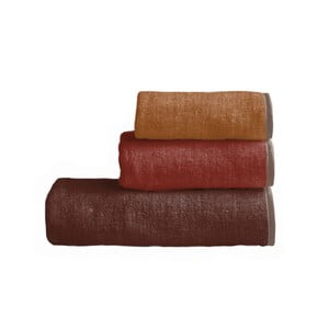 Sada 3 uterákov Linen Couture Toalla Red Gradient