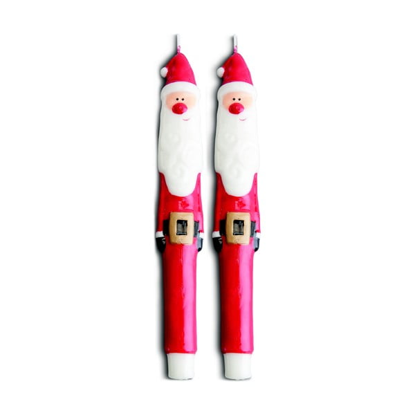 Sada 2 sviečok Santa Red