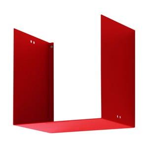 Nástenná polica Geometric One, červená