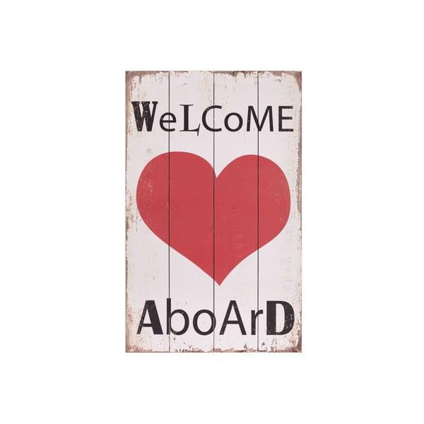 Drevený obraz Artesania Esteban Ferrer Welcome Aboard