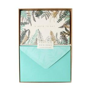 Sada 10 komplimentiek s obálkami Portico Designs FOIL Ferns