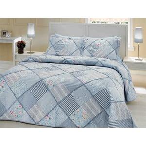 Sada prešívanej prikrývky na posteľ a 2 vankúšov Double 201, 250x260 cm