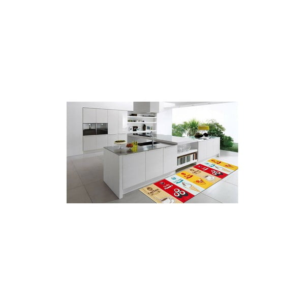 Vysokoodolný kuchynský koberec Fastfood, 60x150 cm
