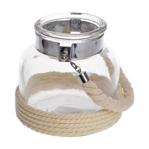 Sklenený lampáš Rope