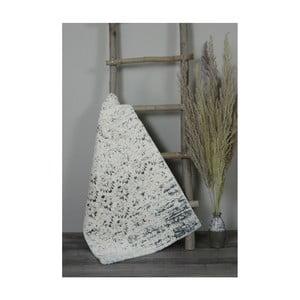 Krémová bavlnená kúpeľnová predložka My Home Plus Sensation, 61×102 cm