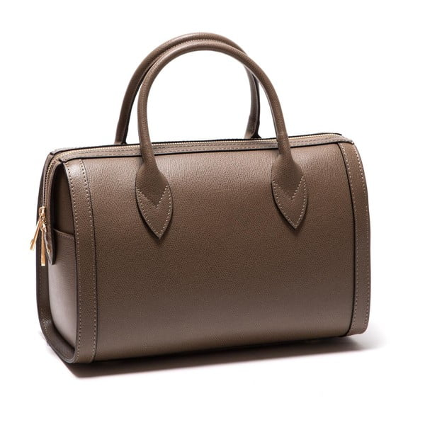 Hnedá kožená kabelka Sofia Cardoni Iniga Fango