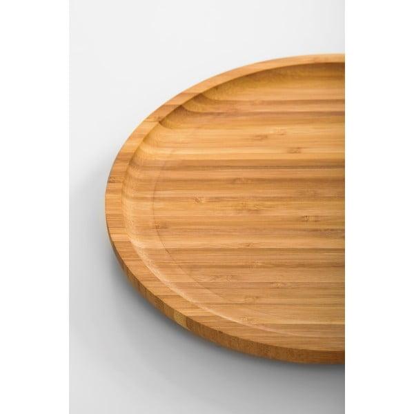 Bambusový otočný podnos Bambum Lily, 28cm