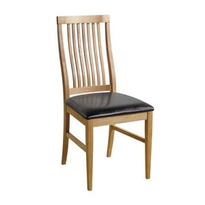 Sada 2 prírodných stoličiek s čiernym poťahom Folke Kansas