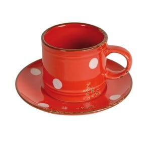 Hrnček s tanierikom Antic Line Cup Red