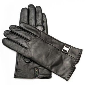 Dámske čierne kožené rukavice Pride & Dignity Rome, veľ. 8,5