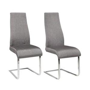 Sada 2 sivých jedálenských  stoličiek Støraa Teresa