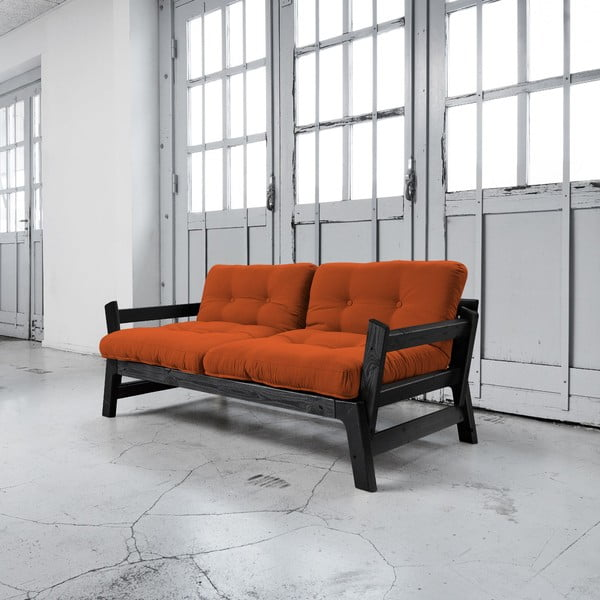 Rozkladacia pohovka Karup Step Black/Orange